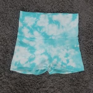 Victoria's secret pink tie dye bike shorts
